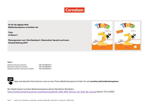 Tinto Sprachlesebuch 2-4 - Medienkompetenzen Tinto 2 - Synopse - Webshop-Download
