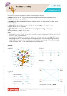 Sally - Numbers (10–100) - Arbeitsblatt