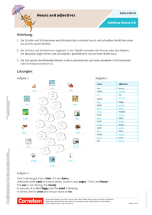 Sally - Nouns and adjectives - Arbeitsblatt