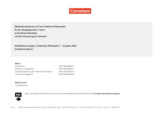 Denk(t)räume wagen - Planungshilfe zur Medienkonzepterstellung Gymnasium - Band 1