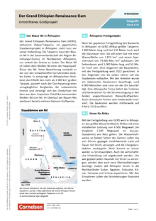 Der Grand Ethiopian Renaissance Dam - Ein umstrittenes Großprojekt - Arbeitsblatt mit Lösungen
