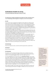 Konkludentes Handeln als Lösung - Schulrechtsfall des Monats Februar 2020 - Schulrechtsfall