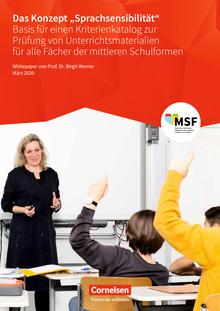 """Das Konzept """"Sprachsensibilität"""" - Whitepaper - Arbeitsblatt"""