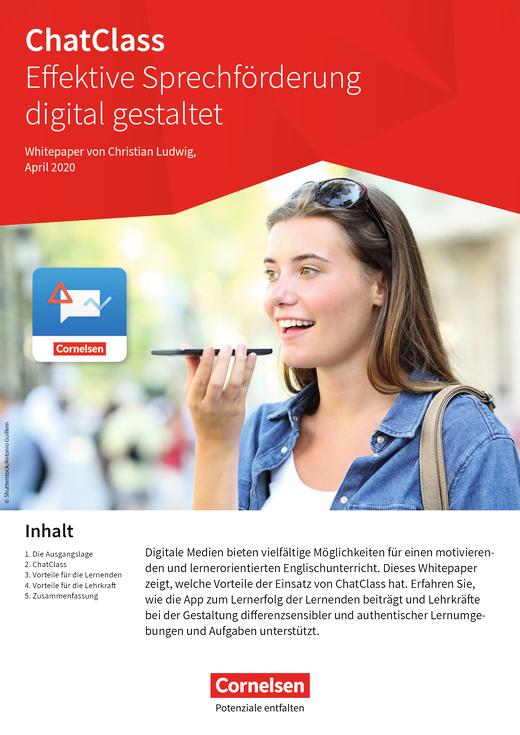 Chatclass - ChatClass - effektive Sprechförderung digital - Whitepaper - Arbeitsblatt