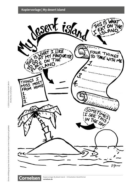 English G Access - Access English Challenge - Desert Island - Arbeitsblatt