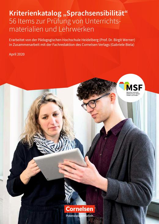 "Kriterienkatalog ""Sprachsensibilität"" - Arbeitsblatt"