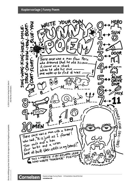English G Access - Access English Challenge - Funny Poem - Arbeitsblatt