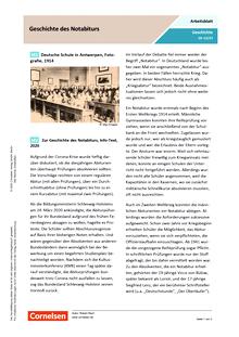 Geschichte des Notabiturs - Arbeitsblatt mit Lösungen