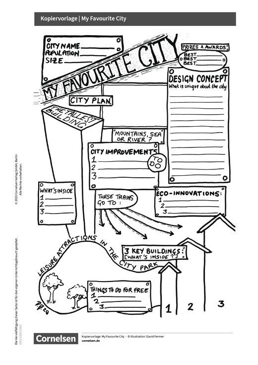 English G Access - Favourite City - Kopiervorlage