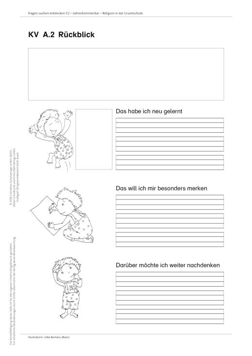 Fragen-suchen-entdecken - Evaluationsbogen mit Relix - Arbeitsblatt - Band 1-4