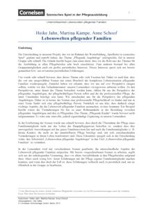 Pflegias - Szenisches Spiel in der Pflegeausbildung: Lebenswelten - Unterrichtseinheit