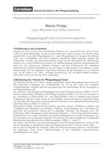 Pflegias - Szenisches Spiel in der Pflegeausbildung: Pflegepädagoginnen im Dilemma - Unterrichtseinheit