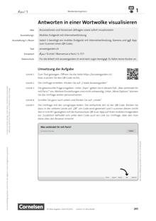 À plus ! Neubearbeitung - Medienkompetenz fördern - Antworten in einer Wortwolke visualisieren - Unterrichtsbeispiel - Band 1