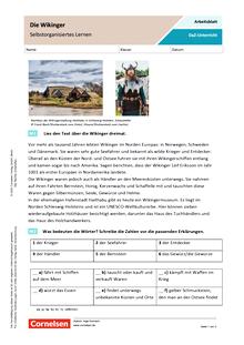 Die Wikinger (Selbstorganisiertes Lernen) - Arbeitsblatt