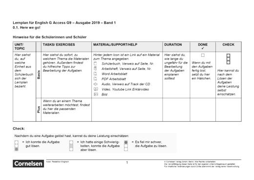 Access - Here we go - Lernplan - Schülerfassung - Band 1: 5. Schuljahr