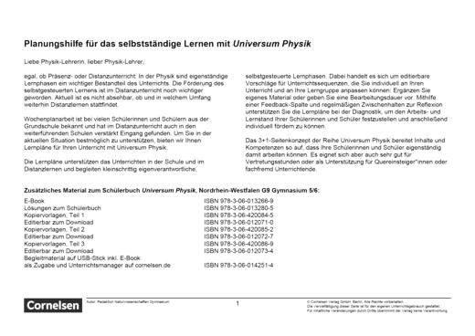 Universum Physik - Temperatur und Wärme - Teil 1 - Lernplan - Lehrerfassung - 5./6. Schuljahr