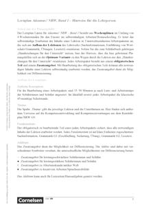 Adeamus! - Familie und Namen in Rom - Lernplan - Lehrerfassung - Band 1