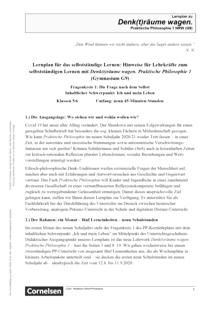 Denk(t)räume wagen - Fragenkreis 1: Ich und mein Leben - Lernplan - Lehrerfassung - Band 1