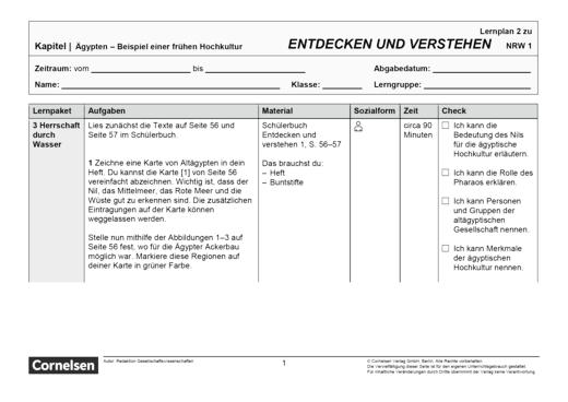 Entdecken und verstehen - Lernplan - Schülerfassung - Band 1