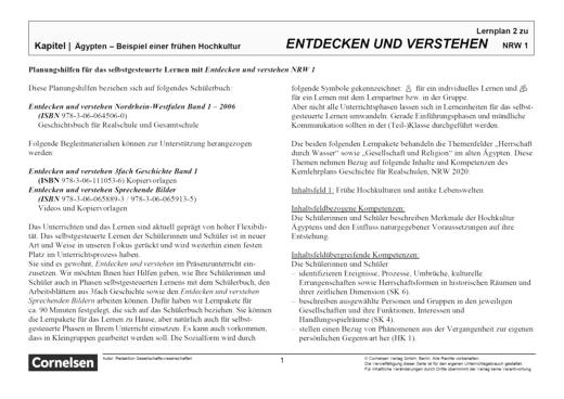 Entdecken und verstehen - Lernplan - Lehrerfassung - Band 1