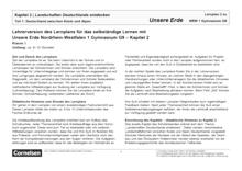 Unsere Erde - Landschaften Deutschlands entdecken - Lernplan - Lehrerfassung - Band 1