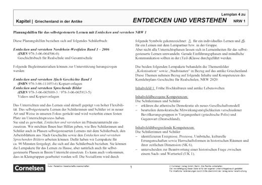 Entdecken und verstehen - Paket 5 - Lernplan - Lehrerfassung - Band 1: 5./6. Schuljahr