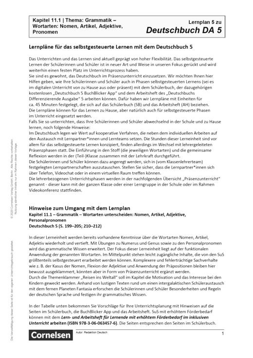 Deutschbuch - Lernplan - Lehrerfassung - 5. Schuljahr