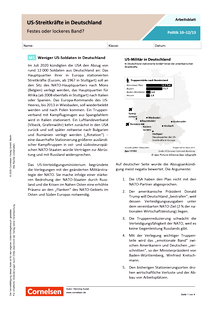 US-Streitkräfte in Deutschland. Festes oder lockeres Band? - Arbeitsblatt mit Lösungen