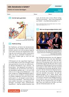 USA: Demokratie in Gefahr - Politik mit harten Bandagen - Arbeitsblatt