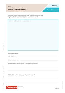 Klexer Klimawandel als Thema in der Grundschule - Kopiervorlagen