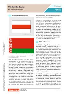 Unbekanntes Belarus - Ein kurzes Länderprofil - Arbeitsblatt mit Lösungen