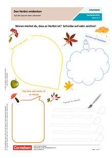 Den Herbst entdecken - Auf den Spuren einer Jahreszeit - Arbeitsblatt