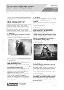 The next scream you hear might be yours… A Step-by-step Guide to Writing a Horror Story - Arbeitsblatt mit Lösungen
