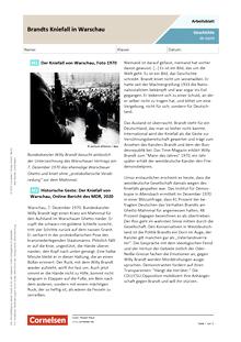Brandts Kniefall in Warschau - Arbeitsblatt mit Lösungen