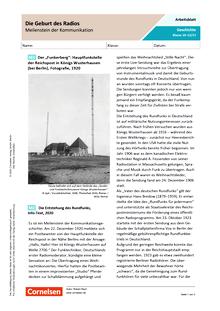 Meilenstein der Kommunikation: Die Geburt des Radios - Arbeitsblatt mit Lösungen