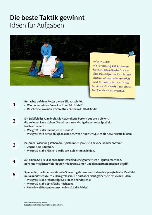 Die beste Taktik gewinnt - Ideen - Arbeitsblatt