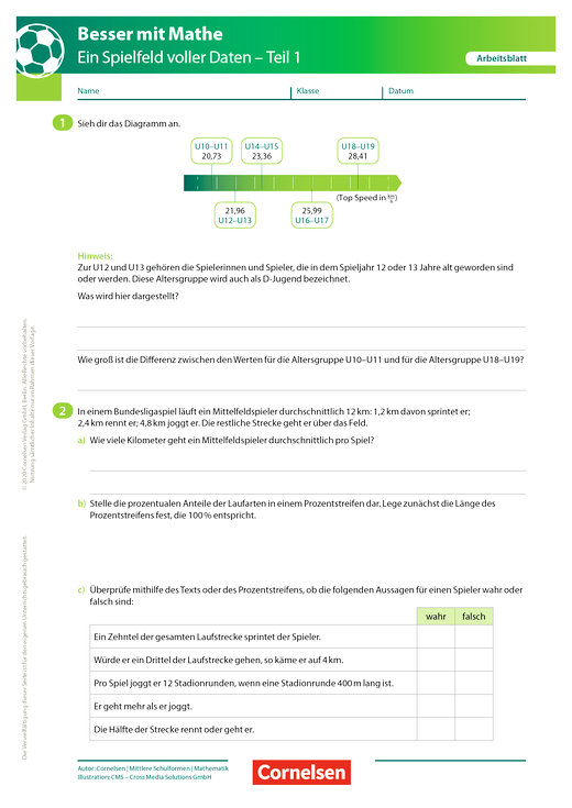 Ein Spielfeld voller Daten - Teil 1 - Arbeitsblatt mit Lösung