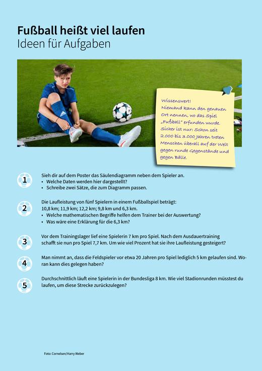 Fußball heißt viel laufen - Ideen - Arbeitsblatt