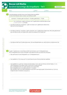 Die Ampelkarte - Teil 1 - Arbeitsblatt mit Lösung
