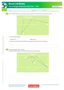 Der richtige Winkel - Teil 1 - Arbeitsblatt mit Lösung