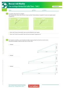 Der richtige Winkel - Teil 2 - Arbeitsblatt mit Lösung