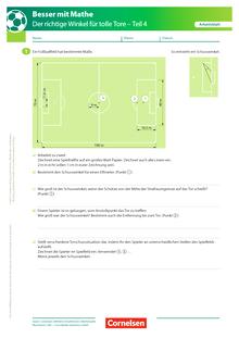 Der richtige Winkel - Teil 4 - Arbeitsblatt mit Lösung