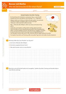 Wie viel Zeit brauche ich für den Hund? - Arbeitsblatt mit Lösung