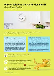 Wie viel frisst ein Hund? - Ideen - Arbeitsblatt