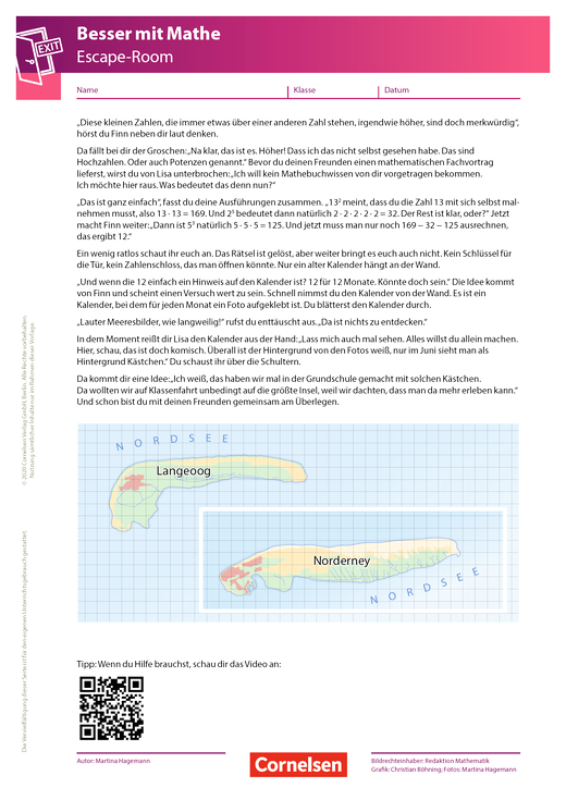 Escape-Game - 4. Kapitel: Juni in der Nordsee - Arbeitsblatt
