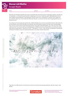 Escape-Game - 5. Kapitel: Kombinieren für ein Aha - Arbeitsblatt
