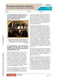 """Das Kaiserreich – """"eine historische Notwendigkeit ohne Alternative""""? - Arbeitsblatt mit Lösungen"""