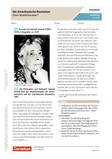 Die Amerikanische Revolution - (k)ein Modellcharakter? - Arbeitsblatt mit Lösungen