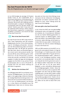 Das Zwei-Prozent-Ziel der NATO - Arbeitsblatt mit Lösungen