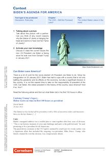 Context - Biden's Agenda for America - Kopiervorlagen mit Materialien, Aufgaben, didaktischen Hinweisen sowie Lösungen